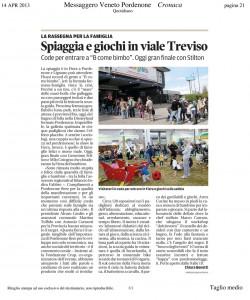 Spiaggia e giochi in viale Treviso
