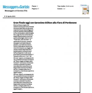Messaggero Veneto edizione di Gorizia